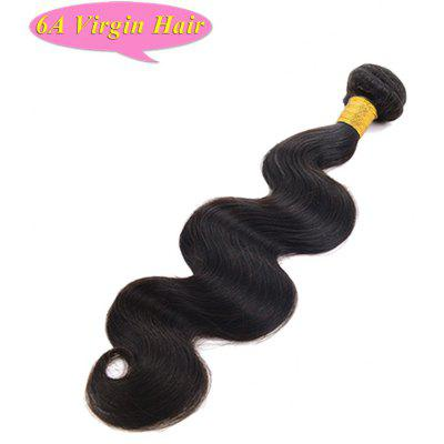 6A Chinese Virgin Hair Faddish Body Wave Natural Black 1 Piece/Lot Women's Human Hair Weft