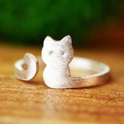 Cat Alloy Cuff Ring