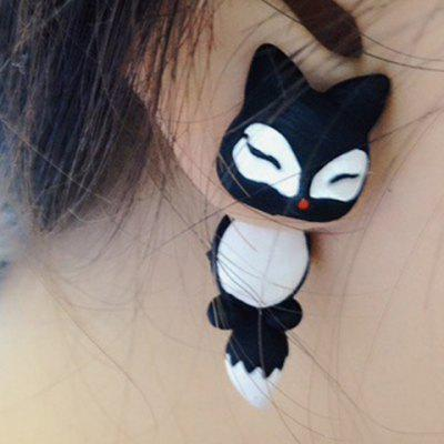 Pair of Cute Fox Shape Design Earrings For Women