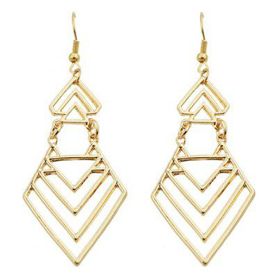Pair of Trendy Geometric Hollow Earrings For Women