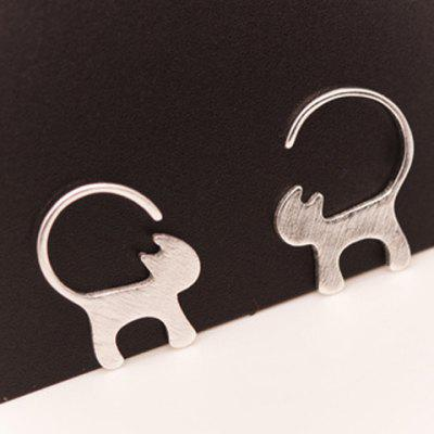 Pair of Cute Kitten Solid Color Earrings For Women