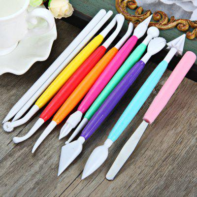 9Pcs Cake Fondant Color Carving Tool