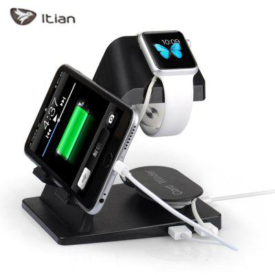 Itian A16 Portable Charger Stand Dual USB Port Power Adapter for Apple Watch / iPhone 6S / iPad etc.