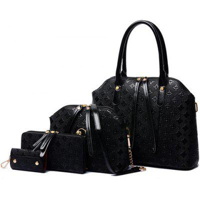 Elegant Embossing and Belts Design Women's Tote Bag