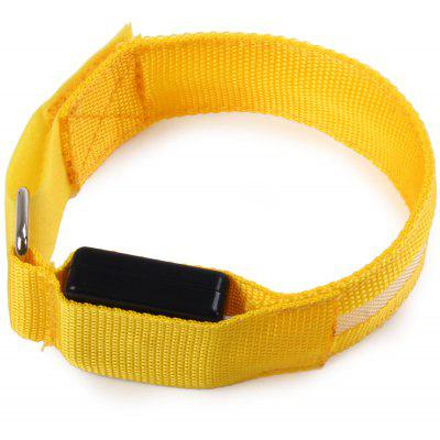 LED Nylon Safety Armband Yellow Light