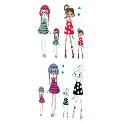 Chic Fashion Cartoon Girl Pattern Waterproof Tattoo Sticker For Women