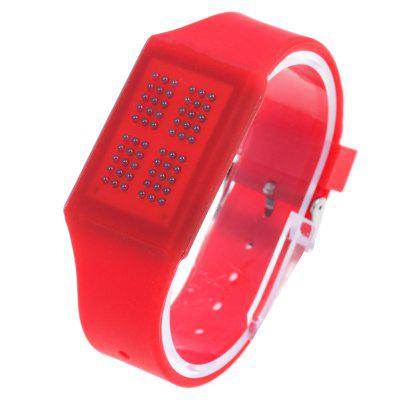 T21408 LED Touch Wristwatch with Silicone Strap Date Display