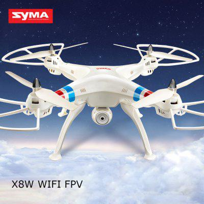 SYMA X8W WiFi FPV Headless Mode 2.4G Remote Control Quadcopter with HD 0.3MP Camera 6 Axis Gyro 3D Roll Stumbling UFO