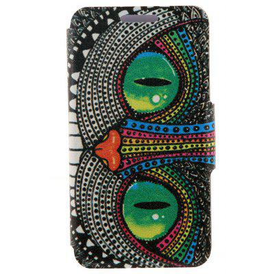 Kinston PU Leather Flip Stand Cover Case with Graffiti Pattern for Samsung Galaxy Note 4