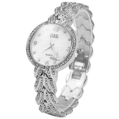 GND Diamond Women Quartz Chain Watch with Stainless Steel Band