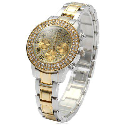 GND Women Diamond Dial Quartz Watch with Stainless Steel Band