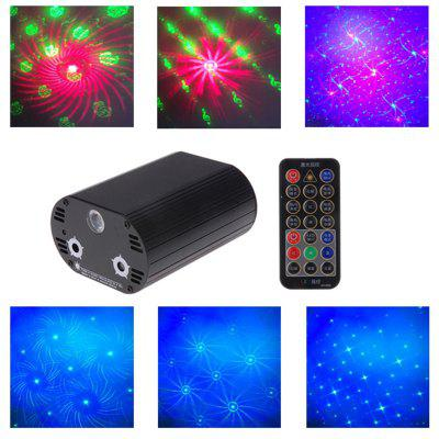 LT - M 3W Colorful Remote Control Laser Stage Light Set