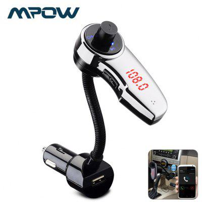 MPOW Streambot Flex Multifunctional Bluetooth FM Transmitter with Car Charger Design Support Hands-free Talking Music Play