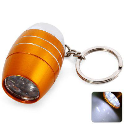 Mini 6 LED Bright White Light Keychain for Outdoor Camping / Hiking