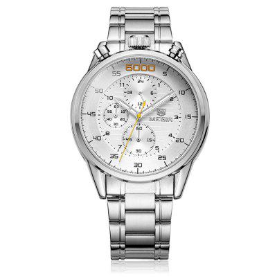 MEGIR 3005 Water Resistant Male Japan Quartz Watch with Stainless Steel Band