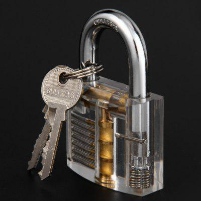 Transparent Practise Padlock Set