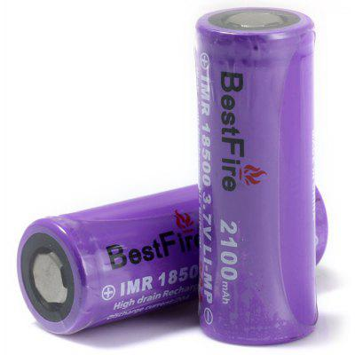 Pair of BestFire 18500 2100mAh 3.7V Rechargeable IMR Li-ion Battery LI-MP