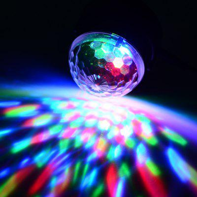 EXLED 4W Colorful Crystal Magic Ball LED Stage Light + Cigarette Lighter