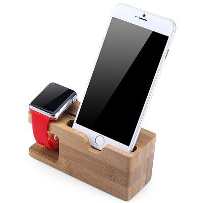 Bamboo Charging Docking Station for Apple Watch iPhone