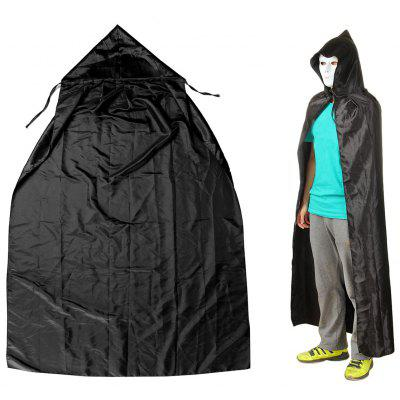 Gearbest 155cm Halloween Masquerade Cloak with Hood  -  BLACK