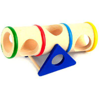 Wooden Rainbow Seesaw Cage Cask Hide Toys