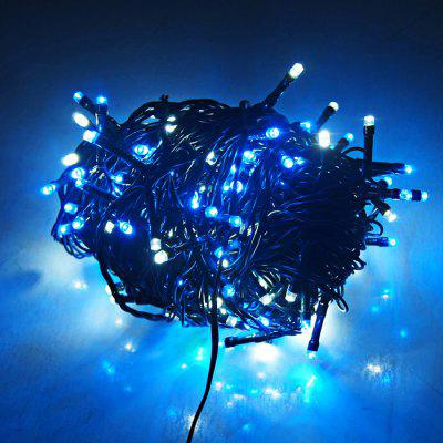 Buy BLUE AND WHITE 24V Low Voltage 250 LED String Light for $15.89 in GearBest store