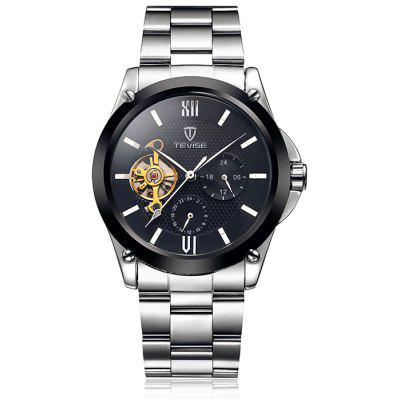 Tevise 8502 Men Tourbillon Automatic Mechanical Watch with Alloy Band