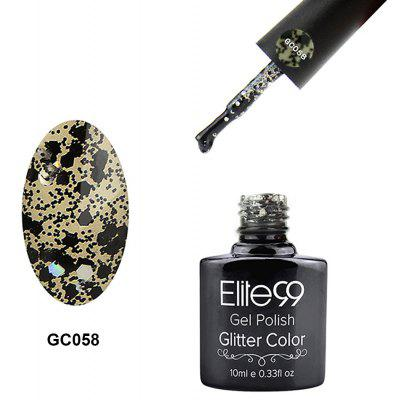 Elite99 Glitter Color Gel Soak Off Uva UV UV Diamond Glitter Shimmer Effect 10ml