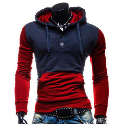 Trendy Cotton Spliced Hoodie