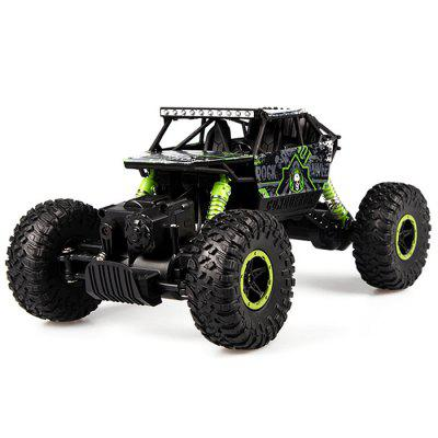 Gearbest HB - P1803 1:18 RC Rock Climbing Car - RTR - GREEN Bimotor 2.4GHz 4WD 4.8V 700mAh Battery