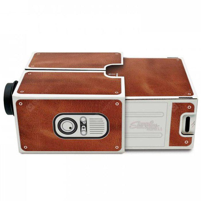 Creative High Brightness Cardboard Mobilephone Projector 2.0 Simple Installation Version for DIY Project