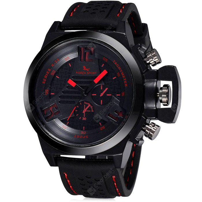 FORZA SPORT 2497 Men Japan Movt Quartz Watch com alça de silicone