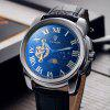 Tevise 999 Men Tourbillon Automatic Mechanical Watch with Leather Strap - BLUE