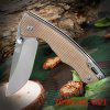 Sanrenmu 7095 LUC - GV1 Foldable Knife with Line Locking - FLAXEN