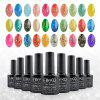 Elite99 Soak Off Diamond Glitter Polish UV LED Soak Off Gel Nail Lacquer 10ml - PINKISH BLUE
