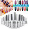 Elite99 Soak Off Cat Eye 3D Nail Tip UV Gel Polish Nail Art Design 12ml - SHIMMER GREY-PURPLE