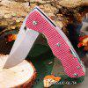 Sanrenmu 7095 SUC - GL - T4 Folding Knife Bottle Opener Belt Cutting CLARET