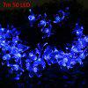 7m 50 LEDs Christmas Solar String Light - BLUE