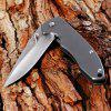 Sanrenmu 7073 LUX - SK Foldable Knife with Steel Blade Color - SILVER GRAY