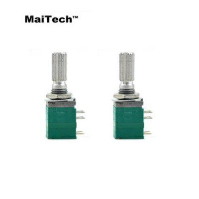 2 PCS MaiTech B50K Potentiometer with Switch 8Pin