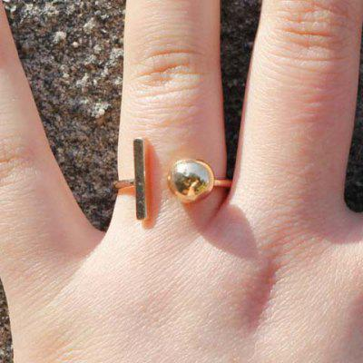 Ball Geometric Cuff Ring
