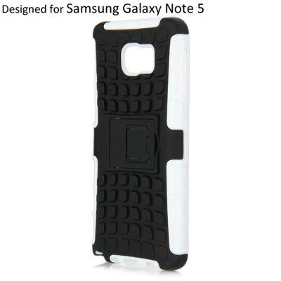 Tyre Design Scratch Resistant Back Cover Case with Detachable Kickstand for Samsung Galaxy Note 5