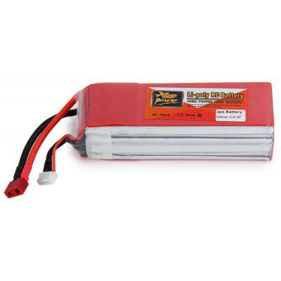 ZOP Power 14.8V 5200mAh 30C T Plug Lipo Battery for Multirotor