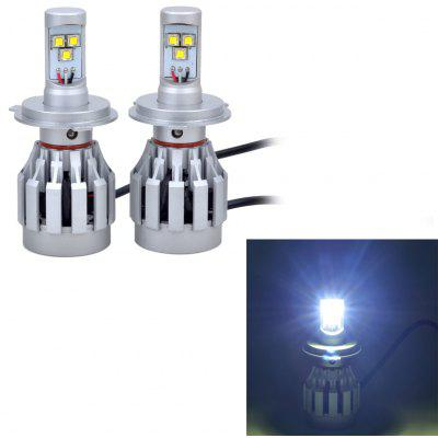 Buy COOL WHITE LIGHT 2x3HL H4 3xCREE XM L2 36W 3000LM LED Car Light High / Low Beam Lamp for $63.88 in GearBest store