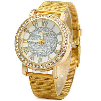 YTwatch Diamond Lady Quartz Watch with Stainless Steel Band