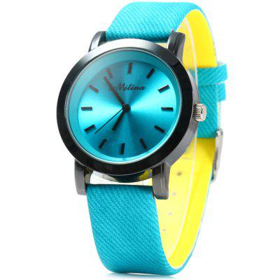 Mitina 259 Women Quartz Watch Japan Movtz with Big Dial Leather Band