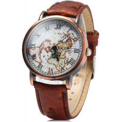 FEIFAN 62056G Retro Male Quartz Watch with Leather Band