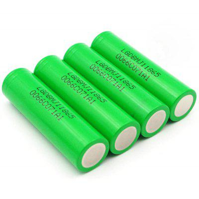 4x LG MJ1 INR18650 Battery