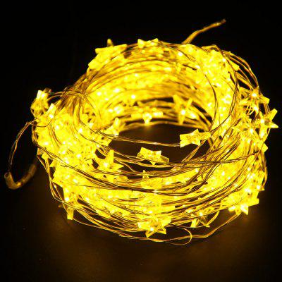 10M Christmas Copper Wire Star String