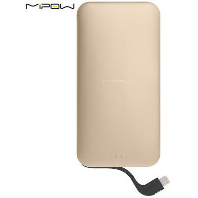 MIPOW SPL07 5000mAh Mobile Power Bank Built-in 8 Pin Cable Battery Charger